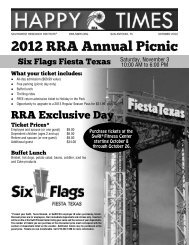 2012 RRA Annual Picnic - Southwest Research Institute