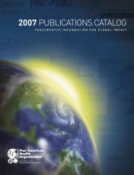 2007 PubCat_eng_fin.indd - PAHO Publications Catalog