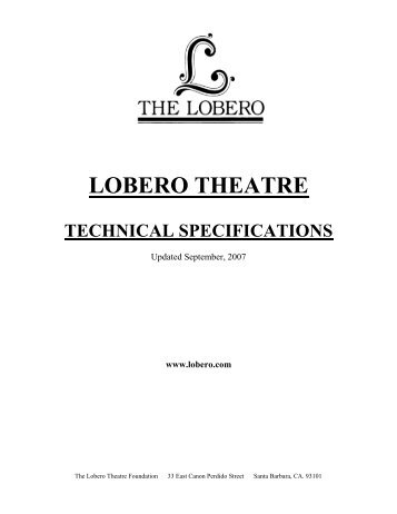 lighting system - Lobero Theatre