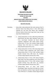 Peraturan Walikota Malang Nomor 58 Tahun 2008 tentang Uraian ...