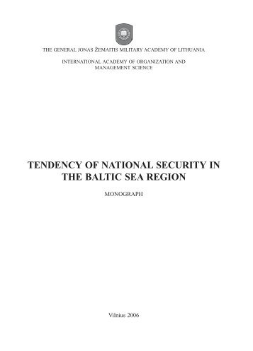 TENDENCY OF NATIONAL SECURITY IN THE BALTIC SEA REGION