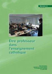 Être professeur dans l'Enseignement catholique - ECA ...