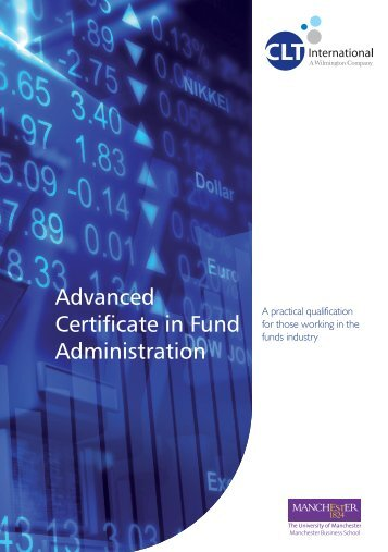 Advanced Certificate in Fund Administration - Brochure