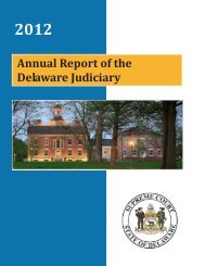 2012 Annual Report - Delaware State Courts - State of Delaware