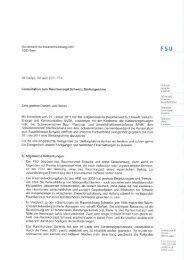 Konsultation zum Raumkonzept Schweiz - FSU