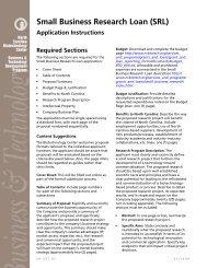 Small Business Research Loan application - North Carolina ...