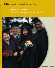1a. IntroSUS 2003 - University of Maryland University College