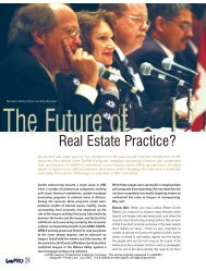 The Future of Real Estate Practice? (LAWPRO ... - practicePRO.ca