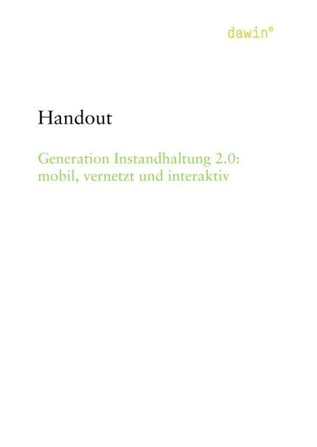 Generation Instandhaltung 2.0: mobil, vernetzt und interaktiv
