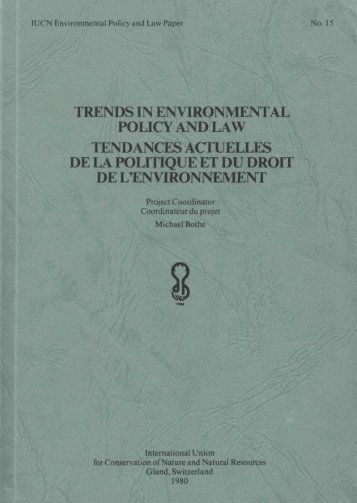 trends in environmental policy and law tendances actuelles ... - IUCN