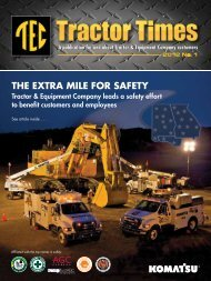 THE EXTRA MILE FOR SAFETY - TEC Tractor Times