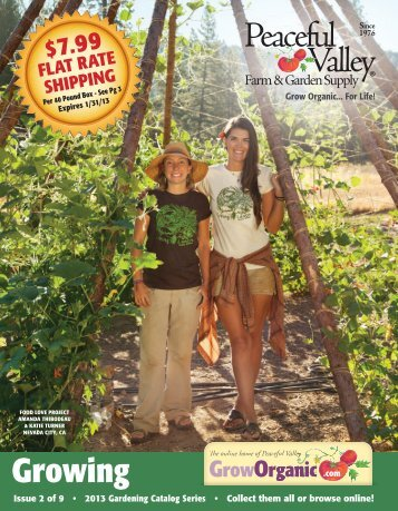 To Download Catalog PDF - Peaceful Valley Farm Supply
