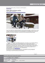 Sicher radeln auf Schnee und Eis - Pressedienst Fahrrad
