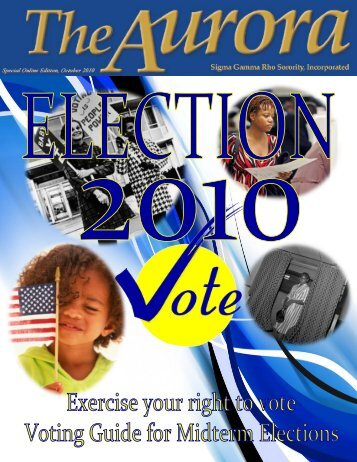 Exercise your right to VOTE! - Sigma Gamma Rho Sorority, Inc.