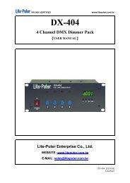 PD-DX404 Manual - Techni-Lux