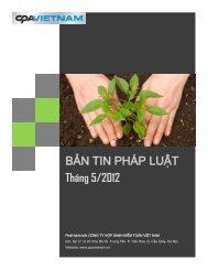 BẢN TIN PHÁP LUẬT Tháng 5/2012