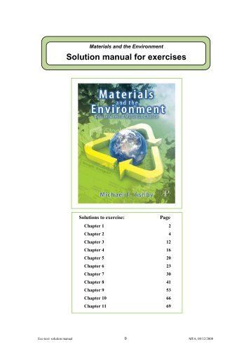 Solution manual for exercises - MAELabs UCSD