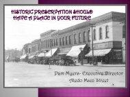 Historic Preservation as an Economic Development Tool