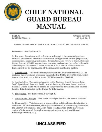 Afi 34 239ang Sup National Guard Bureau Publications Forms