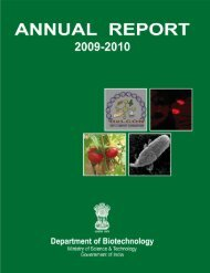 Annual Report 2009-2010 - Department of Biotechnology