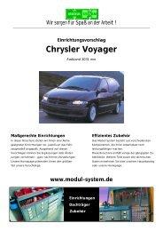 Chrysler Voyager Einrichtungsvorschlag - thoma mobil