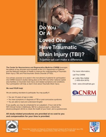 Do You Or A Loved One Have Traumatic Brain Injury (TBI)?