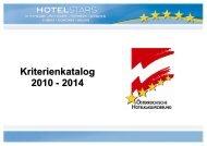 Hotelklassifizierung 2010-2015
