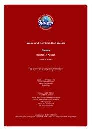 Katalog für Hersteller: Asbach - und Getränke-Welt Weiser