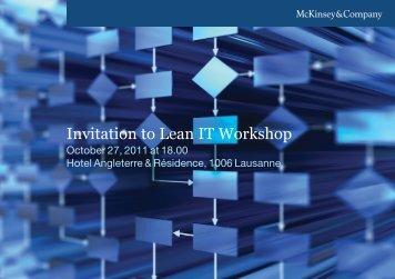 Invitation to Lean IT Workshop