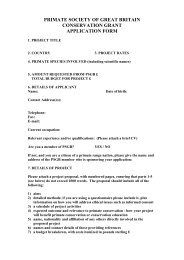 primate society of great britain conservation grant application form