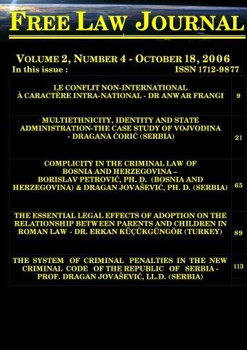 volume 2, number 4 (18 october 2006) - Free World Publishing Inc.