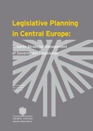Legislative Planning in Central Europe: - Ernst & Young