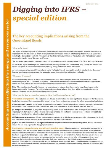 Digging into special edition igging into IFRS – ecial edition - PwC