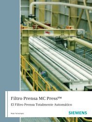Filtro Prensa MC Press - Siemens