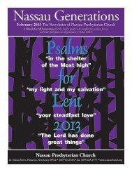 February - Nassau Presbyterian Church