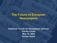 The future of European Newspapers, Roman Hohol - pdf