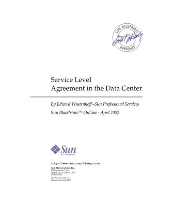 Service Level Agreement In The Data Center Walker Institute