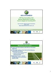 CIP Eco-Innovation Call: Market Replication Projects How to ... - Erai