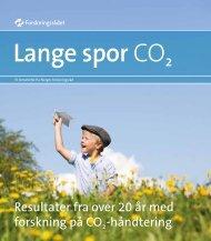 Lange spor CO2 - NGI