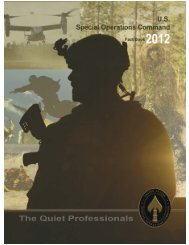 U.S. Special Operations Command Fact Book 2012
