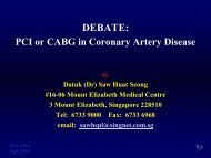 PCI or CABG in Coronary Artery Disease