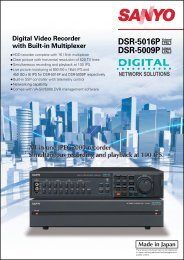 DSR-5016P DSR-5009P - Cctv