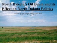 North Dakota's Oil Boom and its Effect on North Dakota Politics