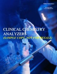CLINICAL CHEMISTRY ANALYZERS - TriMarkPublications.com