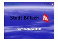 Beilage 1 (PDF nicht barrierefrei, 417 Kb) - Stadt Bülach