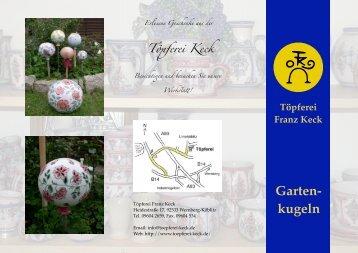 Töpferei Franz Keck Garten- kugeln