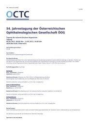 OCTC - 54. Jahrestagung der Österreichischen ... - OCTC.eu