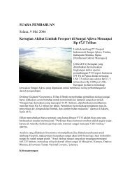 Kerugian Akibat Limbah Freeport di Sungai Ajkwa Mencapai Rp 67 ...