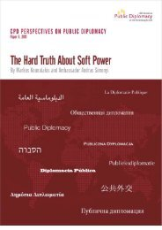 The Hard Truth About Soft Power - USC Center on Public Diplomacy