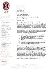Letter to Sallie DeBolt on e-letterhead - AAEM